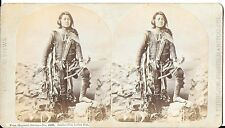 James Thurlow Stereoview of Ute Indian Boy - Benito - From Hayden's Survey 1870s