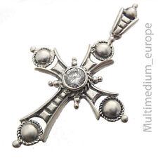Sterling Silber Kreuz Anhänger Bergkristall silver cross rock crystal 🌺🌺🌺🌺🌺