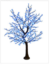 8.5FT Blue Wht Cherry Blossom LED Indoor Outdoor Lighted Tree Commercial Quality