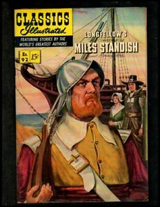 CLASSICS ILLUSTRATED #92 FINE (O) HRN92 (MILES STANDISH) FREE SHIP ON $15 ORDER!