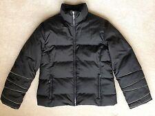 BOGNER Germany DOWN FILL Black Puffer SKI JACKET Women Size 12/42 Winter Coat