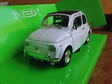 WELLY NEX FIAT 500 L bianca scala 1/24 d f r Abarth Giannini 595