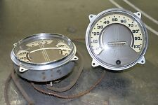 36 1936 Pontiac Master Deluxe 6V 100 mph Gauge Set Speedo Hot Rat Rod Dry Lakes