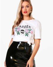 boohoo Plus size Felicity 'J'adore' Printed Tee UK Size 20 White RRP £15 #367