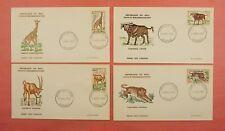 5 FDC 1965 MALI WILDLIFE ANIMALS #67-71