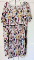 Oliver Bonas Stunning Floral Dress, UK Size 16, Fully Lined VGC+