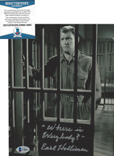 EARL HOLLIMAN SIGNED 'THE TWILIGHT ZONE' 8x10 SHOW PHOTO 5 ACTOR BECKETT COA BAS