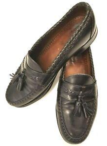 Allen Edmonds Shoes Maxfield Tassel Loafers Black Leather Slip On Mens 9.5 D