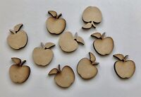 Wooden MDF Apple Craft Shapes Apples 3mm Thick Choice Of Sizesb Teacher Gift