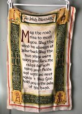 VINTAGE LINEN TEA TOWEL IRISH BLESSING BY ULSTER