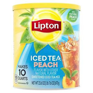 Lipton Iced Tea Peach Drink Mix, 670g, Makes 10 Quarts