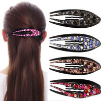 Women's Crystal Rhinestone Barrette Hair Clips Hairpin Bobby Pins Accessories