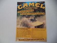 advertising Pubblicità 1982 CAMEL TROPHY '83 ZAIRE e RANGE ROVER
