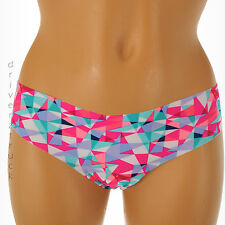 SO Intimates SMALL 1-3 Multi-Color THONG Panties TRIANGLE PRINT Smooth UNDERWEAR