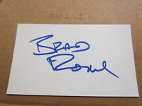 Brad Rowe Signed Autographed Index Card