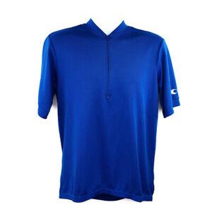 Canari Mens Cycling Jersey Size Medium Estimated Solid Blue Zip Up