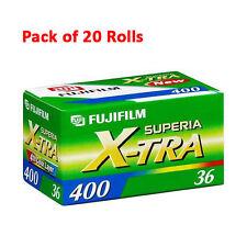 20 Rolls Fujifilm Superia X-tra ISO 400 36 Color CH 135-36 Fuji Film 6/2016