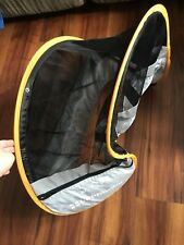 UPPAbaby Cabana Infant Car Seat Shade in grey with tangerine trim, used