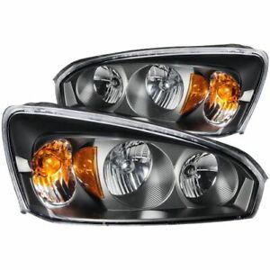 Anzo 121221 Crystal Headlight Set, Clear Lens, Black Housing 2pc NEW
