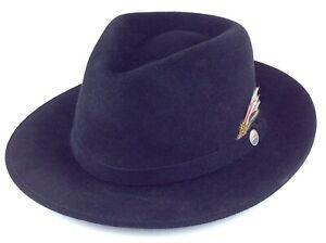 Vintage Black The Tilley Fedora Mens Hat M438