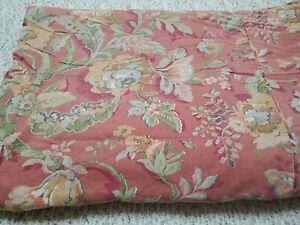 Pottery Barn Red VANESSA Full queen Linen Blend Floral Duvet Cover