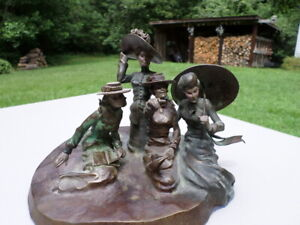 """Fine Bronze By KENNETH OTTINGER Fine Artist Group of for ladies only 1/12"