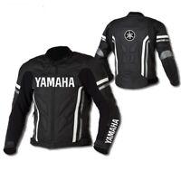 YAMAHA Biker Motorcycle Leather Jacket Mens Racing Motorbike Leather Jackets