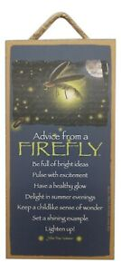 """ADVICE FROM A FIREFLY Primitive Wood Hanging Plaque 5"""" x 10"""""""