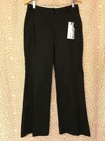 THE LIMITED STRETCH *SIZE 10R* MALLORY -  BLACK WIDE LEG DRESS PANTS **NEW**