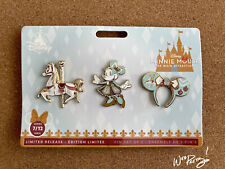 2020 Disney Minnie Mouse Main Attraction Limited King Arthur Carrousel Pin Set