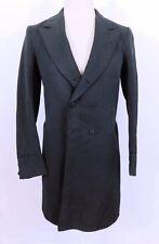 Antique c.1840 Mens VictorianOlive Green Wool Frock Coat Jacket
