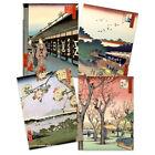 Japanese Woodblock Utagawa Hiroshige Ukiyo-e Unframed Art Print Poster Pack of 4