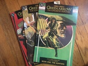DC COMICS GREEN ARROW THE LONGBOW HUNTERS COMPLETE SET 1 - 3 MIKE GRELL VG+ 1987