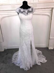 Ivory Richard Designs size 6 lace wedding dress.  New with tags Style Havana