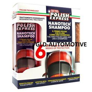 KIT POLISH con SPUGNA CERA Lucidare AUTO 250 ml si usa come uno Shampoo MA-FRA