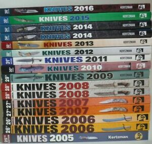 Knives '05 '06 '07 '08 09 10 11 12 13 '14 '15 or '16 Book by Joe Kertzman CHOICE