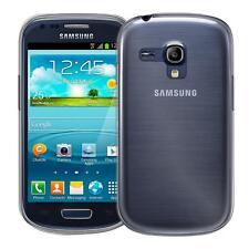 Samsung Galaxy S3 Mini Thin Silicone Clear Case Cover Ultra Slim Shockproof Gel
