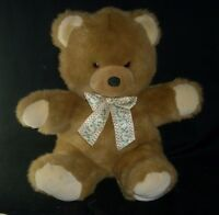 "16"" VINTAGE APPLAUSE FLUFFY TAN BROWN BABY TEDDY BEAR STUFFED ANIMAL PLUSH TOY"