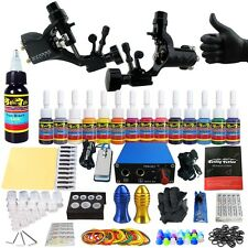 Solong Tattoo Kit 2 Pro Machine Guns 14 Inks Power Supply Set TK203-19