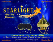120 Pcs STARLIGHT Hookah Charcoal QUICK INSTANT FAST LITE Shisha Coal Incense