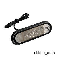 1X 24V Montaggio a Filo Supporto 2 LED Ambra Luce di Indicatore Laterale Volvo