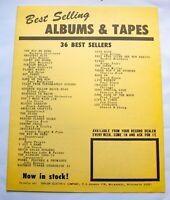 Best Selling Music Chart April 8 1974 Streisand John Denver Joni Mitchell Yes