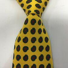 Vintage Polo Ralph Lauren Mens Silk Necktie Yellow Paisley Made in USA
