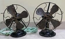 Vintage mareli fan universal desk fan brass blade DC motor table fan Two fan