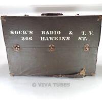 Large, Dark Brown/Black, Unknown Brand, Vintage Radio TV Vacuum Tube Valve Caddy