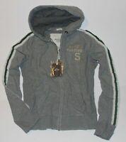 NWT! ABERCROMBIE & Fitch Mens Vintage Classic Zip Up Hoodie Sweatshirt Gray M