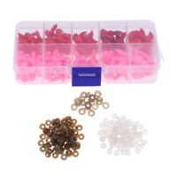 130 Pcs Plastic Safety Noses for Bear Animals Doll Making DIY Red & Pink