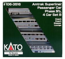 "kato 106-3516  ""AMTRAK "" SUPERLINER PH-IVB ,SET -B , 4 car set  (ADD-ON SET )"