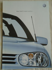 VW Golf Cabriolet brochure Apr 2001 German text