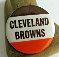 VINTAGE CLEVELAND BROWNS PINBACK BUTTON, NFL Football 1 1/4 inch 1950s-60s era